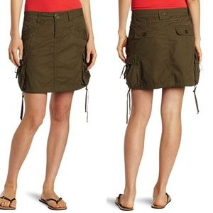prAna Women's Ellia Cargo Skirt 8 Green Cotton